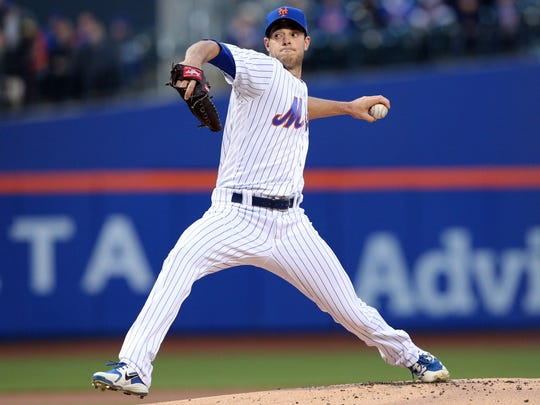 New York Mets starting pitcher Steven Matz pitches against the Washington Nationals during the first inning at Citi Field.