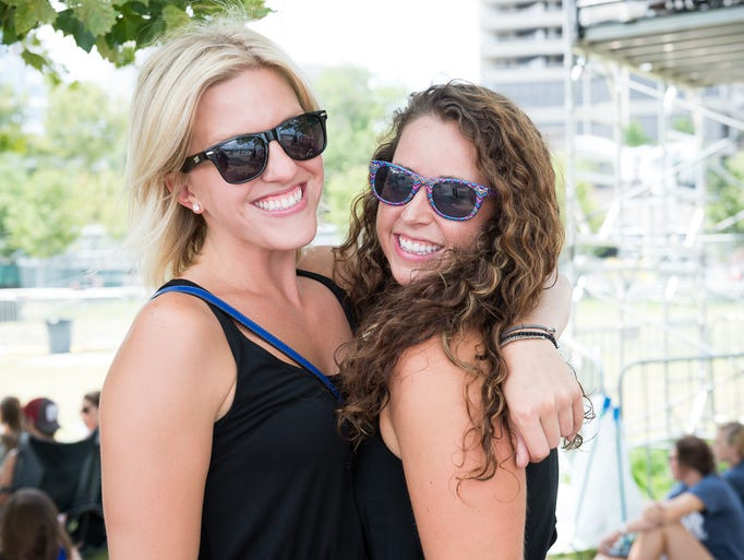 Ivy Poma and Brei Miller of Columbus at Day 3 of the Buckle Up Music Festival on July20.