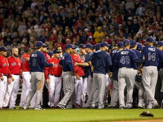 For the second time in a week, the AL East rival Red Sox and Rays cleared the benches and scuffled. Five days after brawling in St. Petersburg, Fla., the teams threw down in Boston on May 30.
