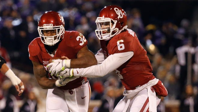 Quarterback Baker Mayfield and running back Samaje Perine are Oklahoma's top-2 playmakers on offense.