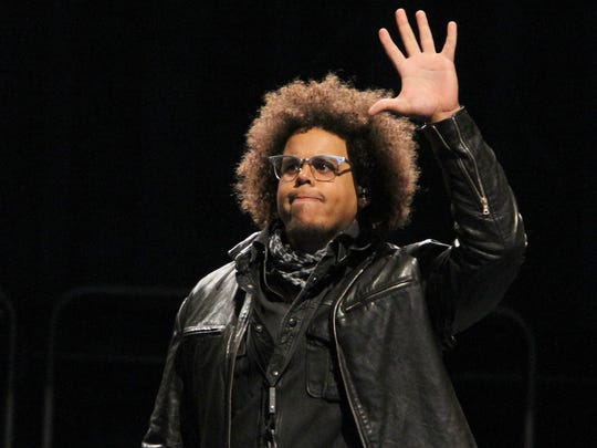Jake Clemons takes the stage before the Bruce Springsteen