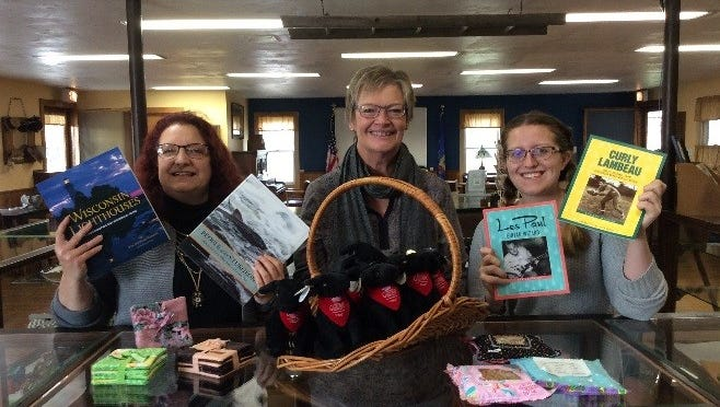 """The Fond du Lac County Historical Society will host """"Holiday Shopping at Old Pioneer Gift Shop."""" Pictured are, from left: Board Member Lisa Pauly, Volunteer Bonnie Strelow and Operations Supervisor Vanessa VanderWeele."""