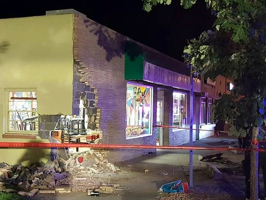 A truck crashed into Big City Burrito in Old Town on