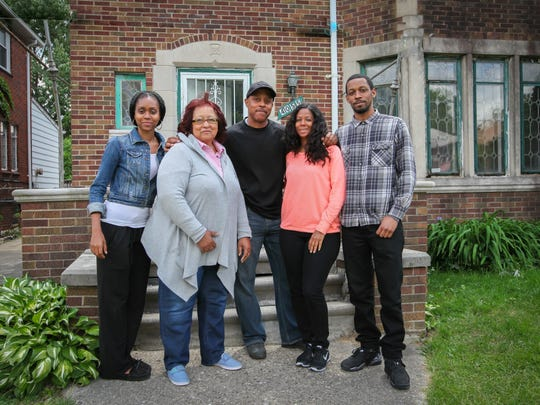 'This Old House' will follow Frank Polk and his family as they restore their Detroit home. From left: Monet Polk (daughter); Carolyn O'Bryant (mother); Frank Polk; Tamiko Polk (wife); Christian Polk (son)