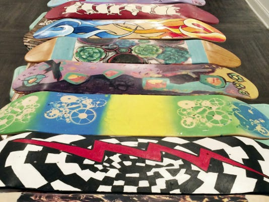 The Decked Out fundraiser will feature 150 hand-customized skate decks in a silent auction. The proceeds will benefit art galleries and York's Reid Menzer Memorial Skatepark.