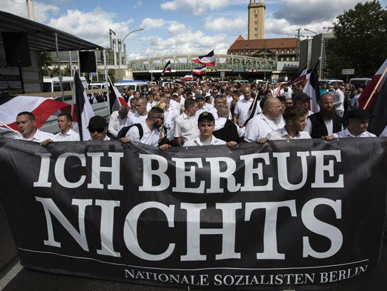 Some 1,000 participants affiliated with neo-Nazi and