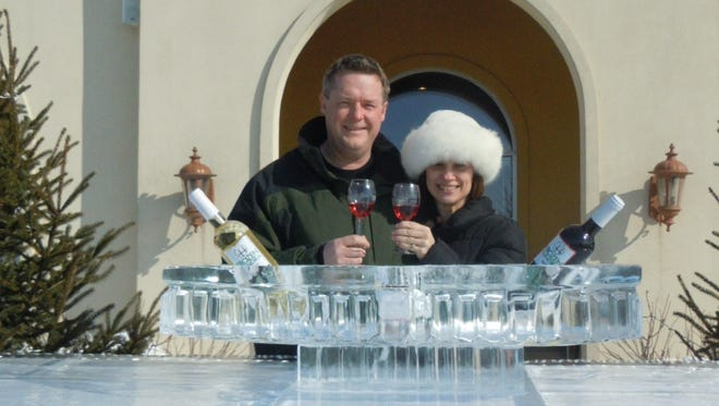 Steve Johnson and Maria Milano are the owners of Parallel 44 and Door 44 wineries in Door County.