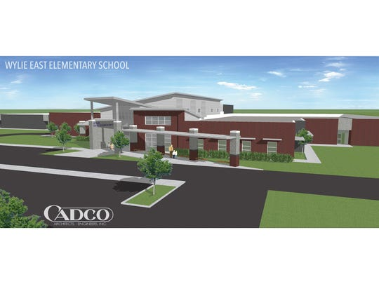 Artist's rendering of the expected appearance of Wylie East Elementary School once the building is completed with Phase 2 set to open in August 2019. The first phase, which will house prekindergarten through first-grade students, is expected to be open next month.