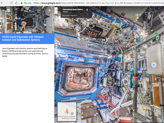 Google Street View Now Lets You Tour The International Space Station - Us map isolation