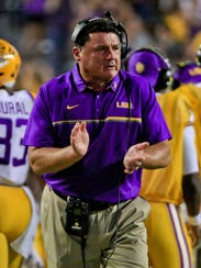LSU's Ed Orgeron has helped the Tigers weather a coaching