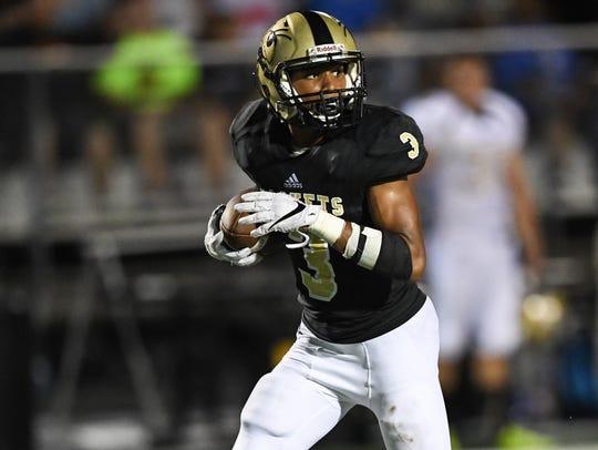Hanna senior Braylon Peterson(3) touchdown was called