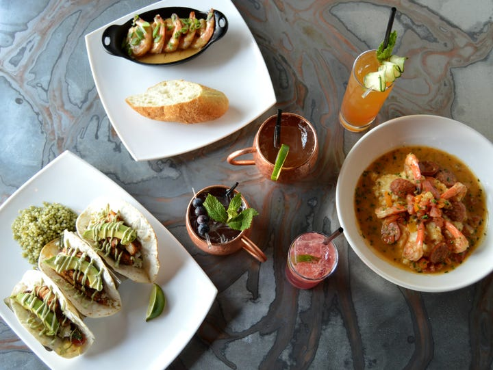 Signature cocktails and dishes prepared at Blackwall