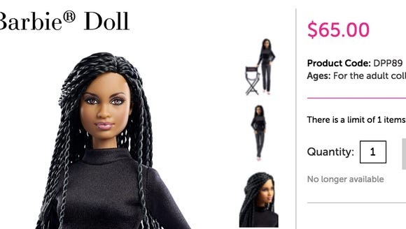 The Ava DuVernay doll sold out on the Barbie Collection