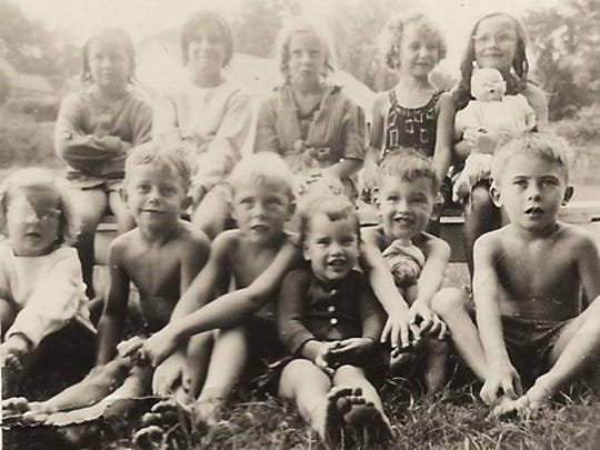 Billy Bresnahan (front row, right) with other children