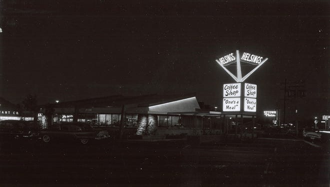 The first Helsing's Coffee Shop at Uptown Plaza, circa 1955.