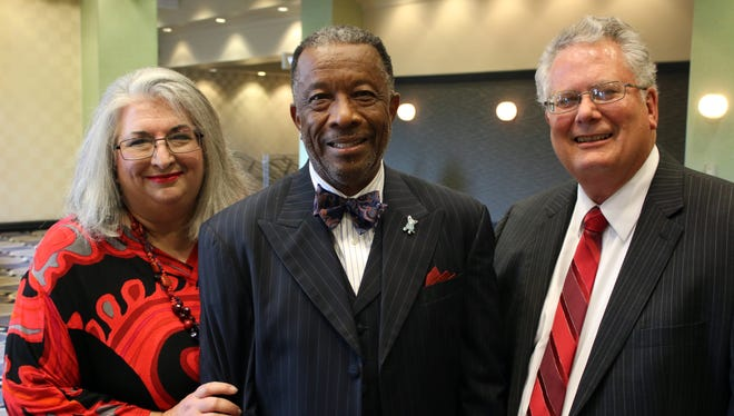 SRAC Executive Director Pam Atchison, SRAC Board Member Henry Price and Mr. Bob Atchison. Pam Atchison won the 2015 P.R.I.D.E. Master Award, the Shreveport-Bossier tourism and hospitality industry's highest honor.