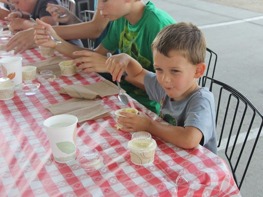 Lofty Pursuits Ice cream eating contest contestant