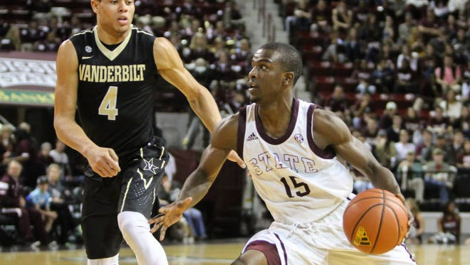 Mississippi State point guard I.J. Ready led his team with 11 points in a 57-54 win against Vanderbilt on Saturday.