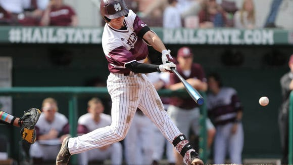 Mississippi State shortstop Seth Heck