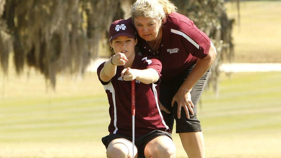 Mississippi State women's golfer Ally McDonald rebounds in day two of the NCAA Regional in Raleigh, North Carolina.
