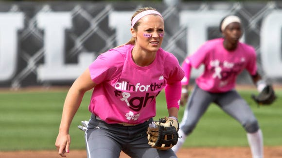 Mississippi State sophomore Caroline Seitz leads her team into the softball NCAA Tournament.