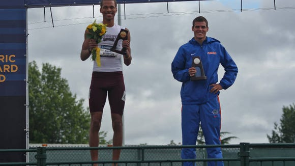 Mississippi State's Brandon McBride (left) qualified for the NCAA Track and Field Championships on Friday.