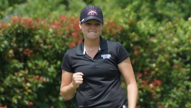 Former Mississippi State golfer Ally McDonald won her first professional tournament on Wednesday.