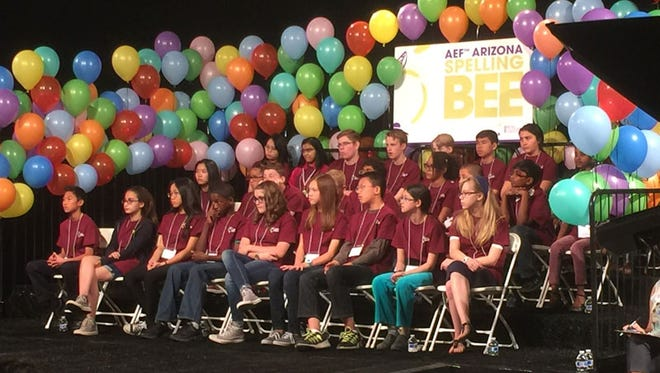 The 27 finalists at the Arizona Spelling Bee represented each of Arizona's 15 counties. Some counties had more than one representative