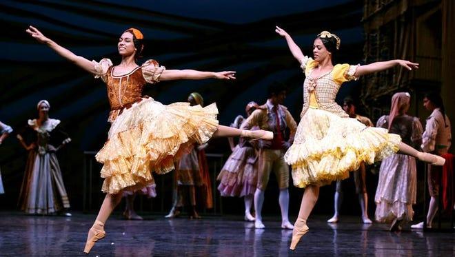 """Un momento del pase gráfico de """"Don Quijote"""", el espectáculo que el Ballet Nacional de Cuba."""