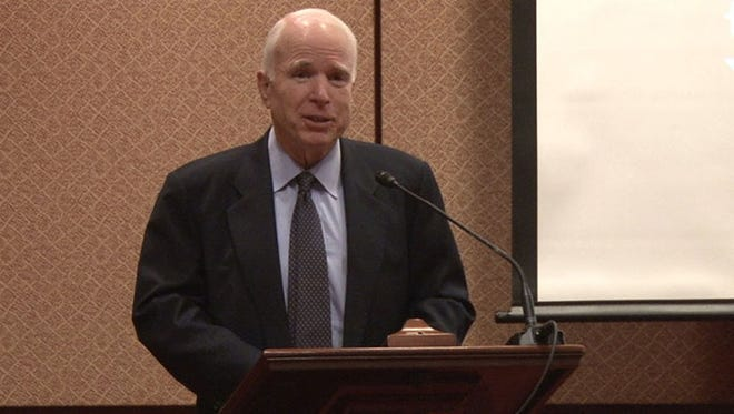 """Sen. John McCain, R-Arizona, said the pain of addiction has touched """"every spectrum of American society,"""" and that it will take more efforts like the broadcasters' campaign to turn the tide."""