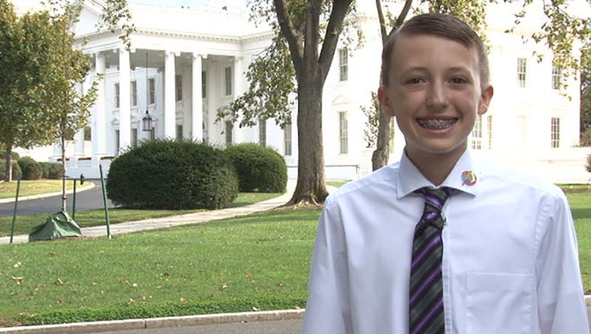 """Sage Foreman, 12, a seventh-grader at Centerra Mirage STEM Academy in Goodyear, was one of a handful of students invited to the White House as a """"kid science adviser."""""""