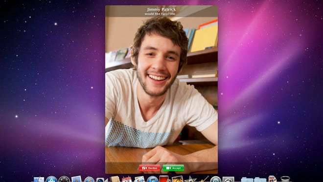 A screenshot of the video calling app FaceTime for Macs.