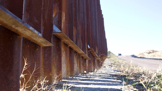 A look at the border wall between the United States and Mexico in Nogales on Jan. 25, 2017.