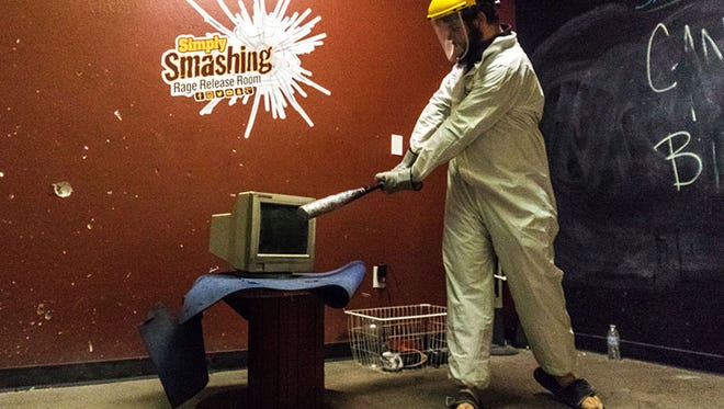 J.D .Wilson, who visited Simply Smashing Rage Release Room in Tempe for the first time, said it relieved stress and was a cool experience.