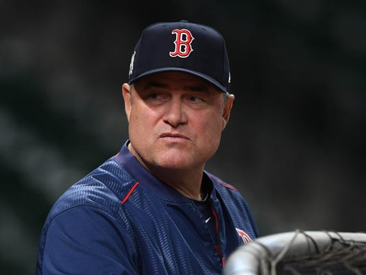 USP MLB: ALDS-BOSTON RED SOX WORKOUTS S MLB USA TX