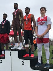 Mansfield Senior sophomore Angelo Grose was runner-up in the long jump at Saturday's 86th Mehock Relays.