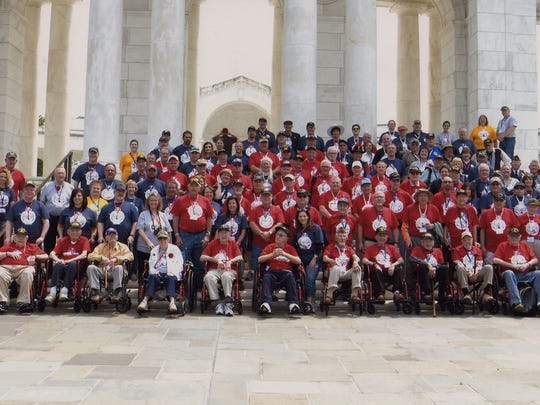 Sixty veterans participated in the Twin Tier Honor Flight on May 12 in Washington, D.C.