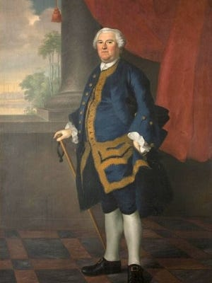Painting of Gov. Benning Wentworth from the collection of the New Hampshire Historical Society.