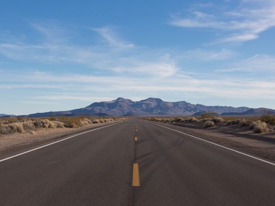 The road through Death Valley