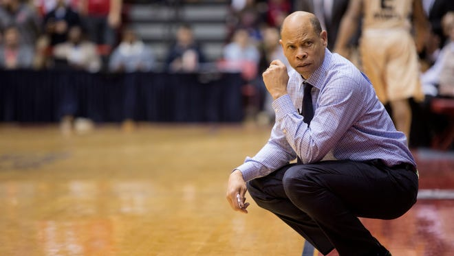 University of Detroit Mercy Head Coach Ray McCallum keeps a close eye on the team and the game along the sideline during the University of Detroit Mercy vs. Oakland University men's basketball game at Calihan Hall on Saturday, Jan. 16, 2016 at the University of Detroit Mercy in Detroit. Oakland University bested the University of Detroit Mercy 86-82. Tim Galloway/Special to DFP