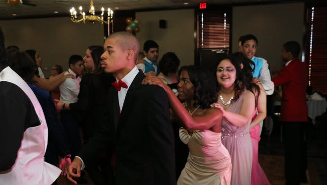 Students attending the special needs prom dance at the Smyrna Event Center.