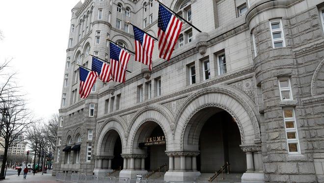 Trump International Hotel in Washington is shown Dec. 21, 2016.