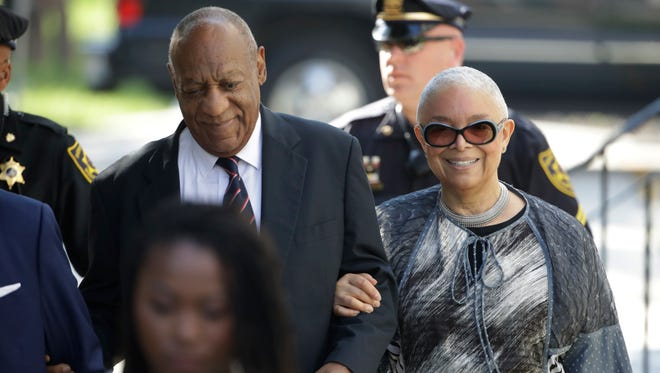 Bill Cosby arrives for his sexual assault trial with his wife Camille Cosby, at the courthouse in Norristown, Pa., June 12, 2017.