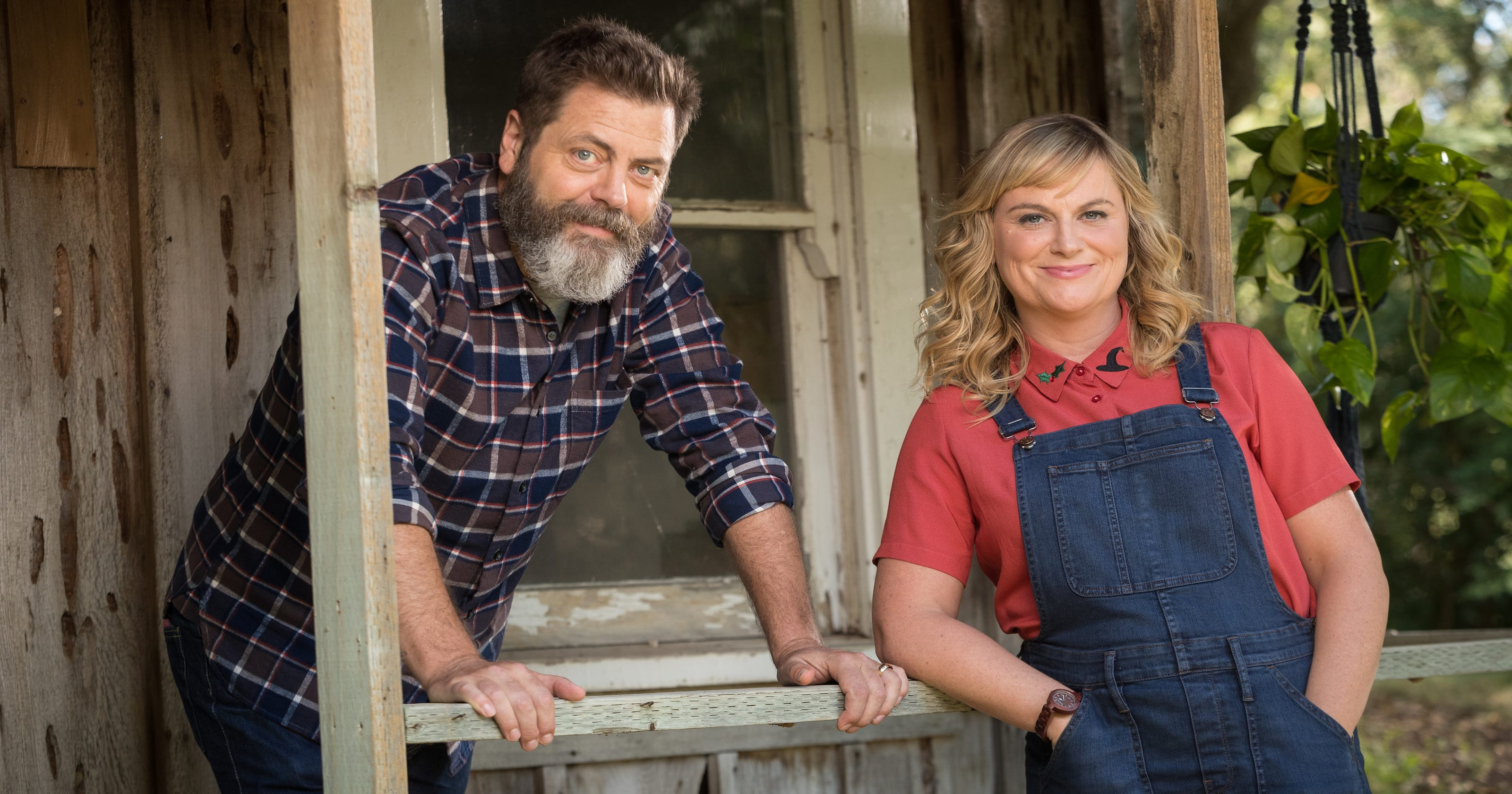 39 making it 39 nick offerman and amy poehler talk fashion crafts and squirrels. Black Bedroom Furniture Sets. Home Design Ideas