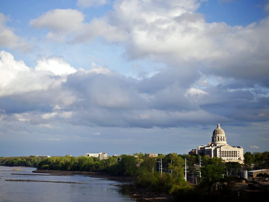 The Missouri State Capitol overlooks the Missouri River