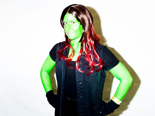 "News Sentinel reporter Maggie Jones dressed as Gamora, an alien character from Marvel's ""Guardians of the Galaxy"" for the annual Fanboy Expo at the Knoxville Convention Center in Knoxville, Tennessee on Saturday, June 30, 2018."