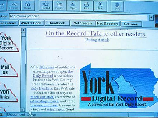 A screenshot of the first YDR website (released during