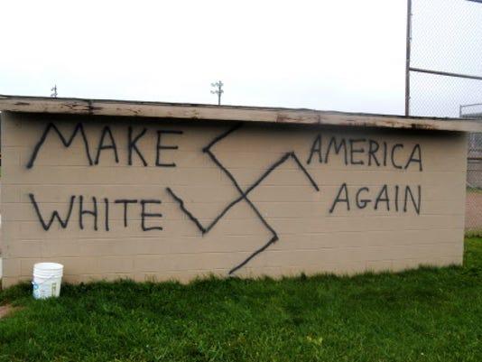 Post-election swastika graffiti