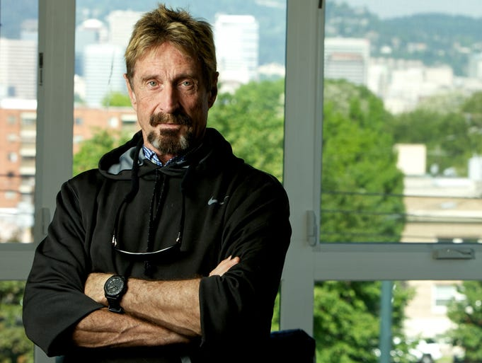 John McAfee, pictured at his home in Portland, Ore., on May 11.