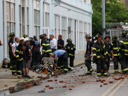 Scenes from the building collapse on Academy Street in the City of Poughkeepsie  on June 18, 2018.
